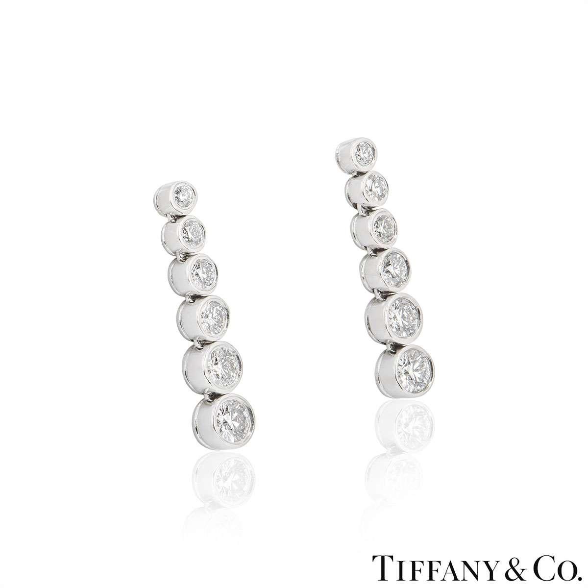 Tiffany & Co. Platinum Jazz Diamond Earrings